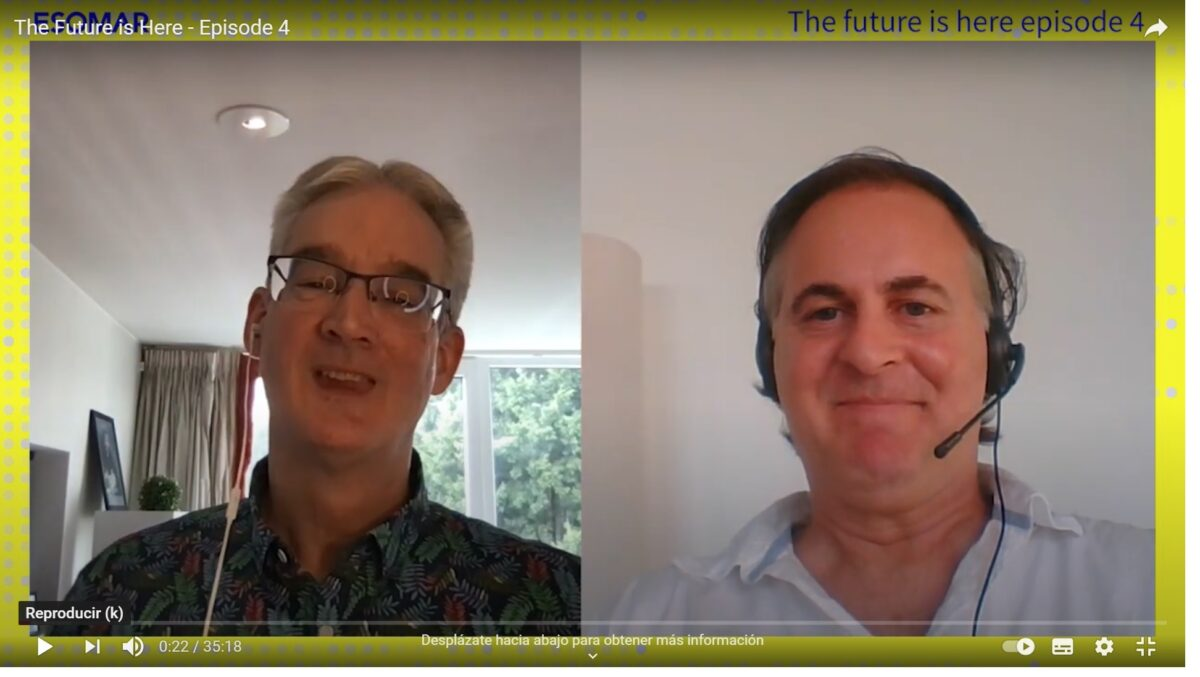The future is here: Esomar  Director General, Finn Raben, interviews Fine´s CEO